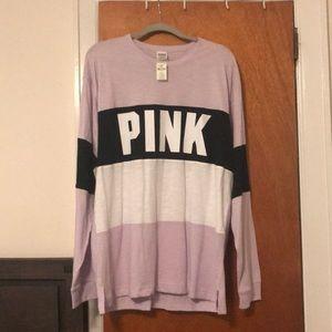 VS PINK light purple long sleeve tee